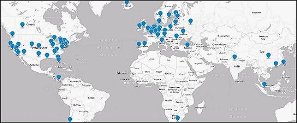 Plus de 65 serveurs d'anonymat dans plus de 30 pays